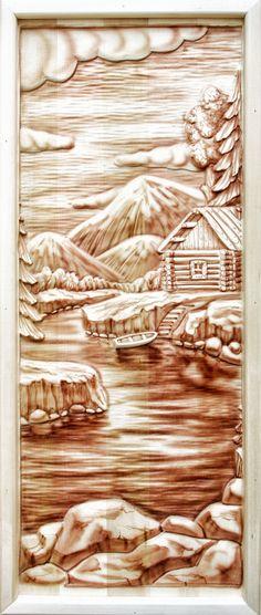 Резные панно из натуральной липы для банных дверей | bondarka.su