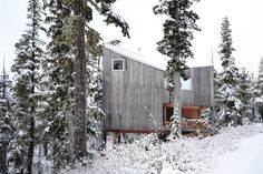 Scott & Scott Architects Alpine Cabin - A beautifully rugged, off-the-grid powder haven inspired by snowboarding
