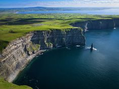 Aerial View of the Cliffs of Moher on the West Coast of Ireland Photographic Print at AllPosters.com