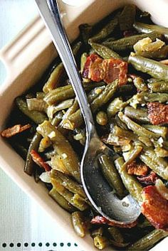 There's bacon involved! And a sweet and sour dressing. This old fashioned Green Bean recipe will have you asking for 2nd's ... and 3rd's. Great side dish for any meat entree.