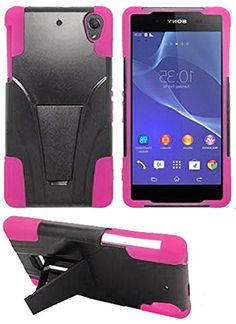 "myLife Protective Slim Armor Kickstand Case for the Sony Xperia Z2 {Twilight Black + Paradise Pink ""Elegant Protective Design"" Two Piece NEO Hybrid with Rubber Bumper Shell} myLife Brand Products http://www.amazon.com/dp/B00PM813QA/ref=cm_sw_r_pi_dp_cW3Aub0V952VT"