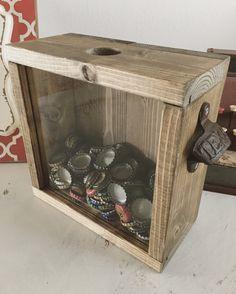 Beer Cap Shadow Box Holder Bottle Cap Holder von BowhayWoodcraft