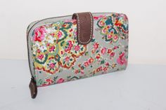 CATH KIDSTON Oilcloth & Leather Mid sized floral bi-fold purse