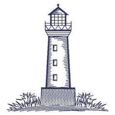 Bluework Lighthouses embroidery design