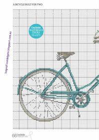 Bonito gráfico de una bicicleta con flores...