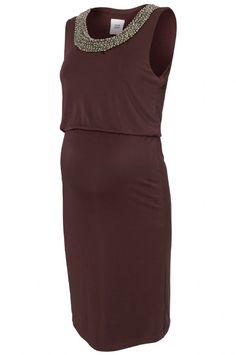 This beaded maternity dress is designed by Mamalicious Maternity and is ideal for parties formal events or as a winter wedding guest this year Made