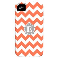 I pinned this Zig Zag Monogrammed iPhone 4 Case in Coral from the Outfit Your iPhone event at Joss and Main!