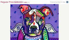 25% Off Everything pit bull Angel PIT BULLS by HeatherGallerArt
