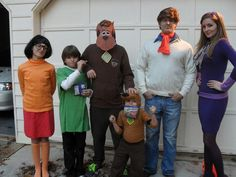 Schmidt family 2011 homemade Scooby Doo Halloween costume idea! Our neighbor Gabe was Scooby so Dylan could be Scrappy-Doo!