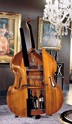 Repurposing your musical instruments allow you to continue to show off even though it doesn't play anymore.