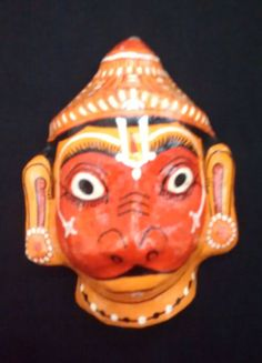 A beautiful handcrafted papier mache mask of by IndianRainbow