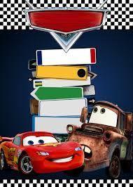 Resultado de imagen para invitaciones de cars para imprimir gratis