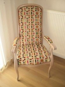 du blanc et du lin pour ce fauteuil voltaire restaur r nover meuble pinterest. Black Bedroom Furniture Sets. Home Design Ideas
