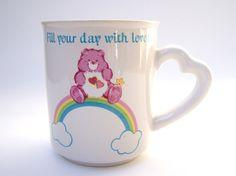 Vintage carebears mug. Want!