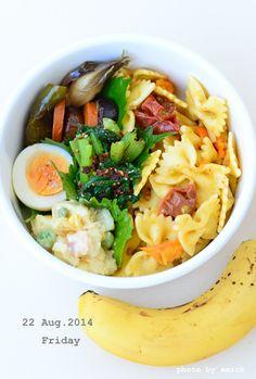 8月22日 金曜日 プチトマトのファルファッレ&夏野菜の焼き浸し : おべんと綴り(おべんとつづり)