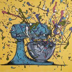 Mixer, drip art, mch artwork Drip Art, Messy Art, Mixer, Artwork, Color, Work Of Art, Auguste Rodin Artwork, Colour, Artworks