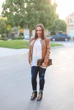 Everything Evelyne: A Camel Leather Jacket