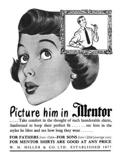 1952 Mentor Shirts ad by totallymystified, via Flickr