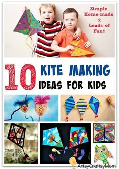 10 Simple Kite Making Ideas for Kids - Perfect for some Spring outdoor fun