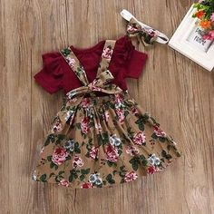 New Arrival Toddler Baby Girls Overalls Skirt+Headband+Romper Set Clothing Sizes Neue Ankunft Kleinkind Baby Mädchen Overalls Rock + Stirnband + Strampler Set – Shop Kids Wear Baby Outfits Newborn, Toddler Outfits, Kids Outfits, Toddler Girls, Baby Boys, Baby Girl Fashion, Toddler Fashion, Kids Fashion, Baby Fashion Clothes