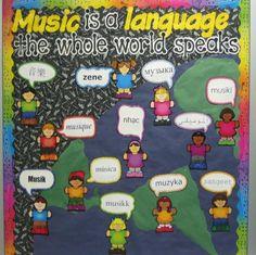 Universal Language - Music... I love this bulletin board idea! by gheorghiu.larisa