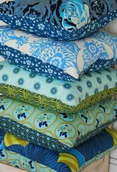 Cottage Pillows, Boho Pillows, Bohemian Throw Pillows, Set of 5