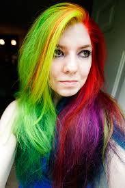 Rainbow manic panic hair