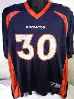 Vintage Denver Broncos Terrell Davis NFL Mens Size XL Starter Football Jersey #Starter #DenverBroncos