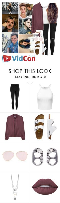 """""""Vidcon 2017"""" by loubear223 ❤ liked on Polyvore featuring River Island, MANGO, TravelSmith, Marc Jacobs and Lime Crime"""