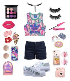 """""""summer"""" by daisyhuijer on Polyvore featuring adidas Originals, Barbour, Miss Selfridge, Fujifilm, ZeroUV, MANGO, Casetify, Lilly Pulitzer, JFR and Lime Crime"""