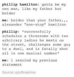 "Philip literally goes through all of his father's life in one day/song. Philip ""blew himself away!"" hahaheheheh...*cries*"