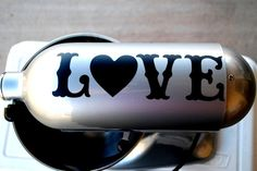 Custom LOVE Decal for Kitchen Mixer Heart Vinyl by DecalsEnFolie, $6.00