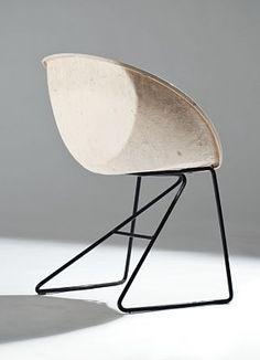 Sven Ivar Dysthe; Enameled Tubular Steel and Fiberglass 'Popcorn' Chair for  Møre Lenstolfabrikk, 1968.