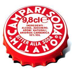 The legendary cap of Campari soda Typography Inspiration, Logo Design Inspiration, Typography Design, Lettering, Italian Logo, Classic Italian, Italian Style, Campari And Soda, Food Packaging Design