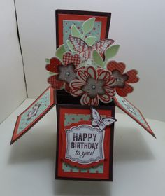 Card in a Box using Flower Shop and Petite Petals.