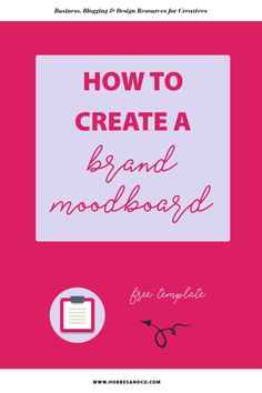Want to know why you should be creating a brand moodboard for your business? Find out here + FREE template to get you started! Editable in Adobe InDesign, Illustrator & Canva!