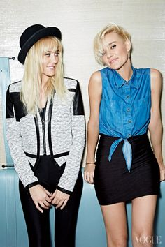 http://media.vogue.com/files/The twin sisters behind electronic dance music act Nervo—also the latest additions to CoverGirl's star-studded roster—are prepping for their first Vogue shoot.