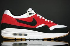 Men Nike Air Max 1 shoes not expensive white black red HOT SALE! HOT PRICE!