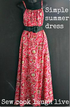 maxi dress sewing tutorial | Love this, but with thicker straps.