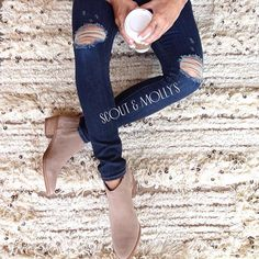 Booties and denim, a match made in Fall heaven... #fashion