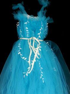 Flower girl dress for my little girl who loves blue...