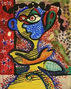 """William Baziotes """"Figure With Blue Face"""" 1936-39"""