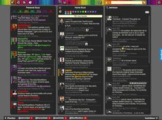 Twimbow - Colored Thoughts - social media hub; manage and engage multiple social networks