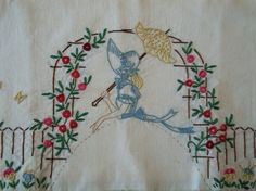embroidery sunbonnet lady