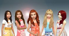 Mystufforigin: Girls Long Hair Pack 8 • Sims 4 Hairs