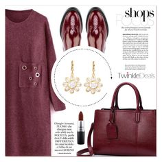 """Differenza Style"" by lucky-1990 ❤ liked on Polyvore featuring Burberry, MAC Cosmetics and red"