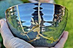 Kintsugi bowl kintsugi cerámica esmalte Kintsugi, Bowl, Etsy Store, Cuff Bracelets, Hand Painted, Jewels, Enamels, Shopping, Hands