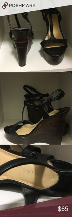 Gianni Bini Wedges Gently worn T-strap Wedge Gianni Bini Shoes Wedges