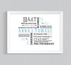 A4- spersonalizowany prezent ślubny- typografia - zizuzaza - Pozostałe