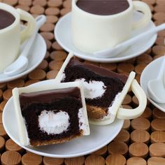 Coffee Cup Cupcakes; what a creative treat! Sure it tastes just as good